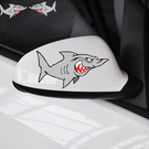 卡通鯊魚車貼 機車 汽車 車身貼紙 摩托...