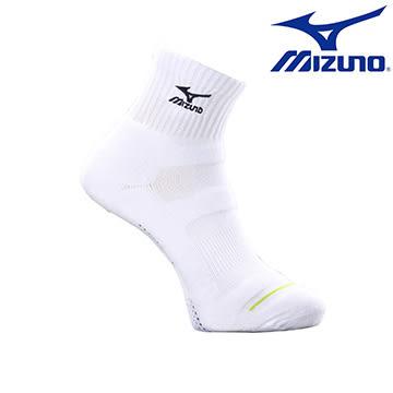 加大尺寸 大尺碼【美津濃MIZUNO】基本款男運動厚底短襪 32TX600209 (白X黑)
