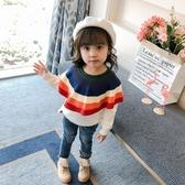 女童秋裝毛衣2018新款童裝毛衫兒童針織衫套頭1-3歲2純棉寶寶上衣