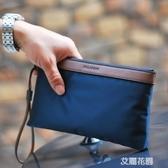 男士手包大容量手拿包韓版帆布包休閒男包手腕包手機包牛津布尼龍『艾麗花園』
