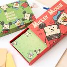 正版迪士尼名片卡盒 抽屜式 牛皮紙 名片 造型便條紙 禮物卡 留言卡 便條紙 米奇 唐老鴨