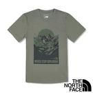 【THE NORTH FACE 美國】男 圓領短袖T恤『橄欖綠』NF0A4U9H 戶外 登山 時尚 休閒 上衣 短袖