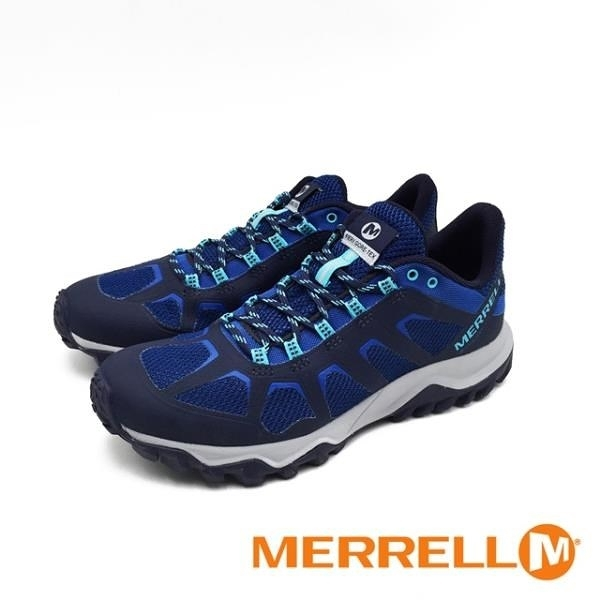 【南紡購物中心】MERRELL(男) FIERY GORE -TEX 防水健走登山鞋 -寶藍