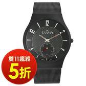 【雙11瘋搶5折! 】SKAGEN 北歐超薄時尚設計腕錶 碳纖錶/UltraSlim/丹麥/極簡/男錶/805XLTBB 現貨!