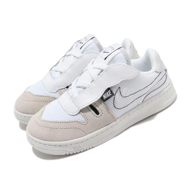 Nike 休閒鞋 Squash-Type TD 白 灰 童鞋 小童鞋 運動鞋 【PUMP306】 CJ4121-100