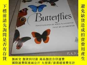 二手書博民逛書店BUTTERFLIES罕見蝴蝶(1978年英文 原版 平裝 大1