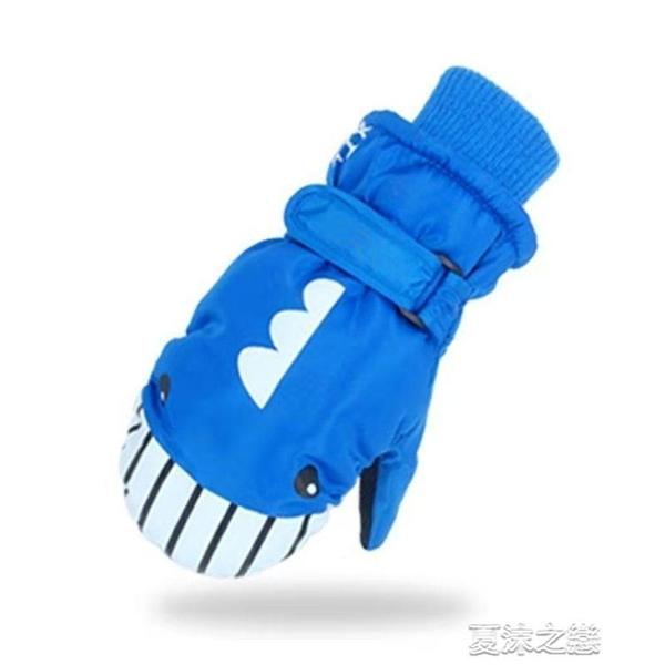兒童滑雪手套 5-12歲兒童男女滑雪手套防滑防水加厚包指卡通 快速出貨