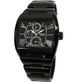【僾瑪精品】Canody羅馬字體時尚中性腕錶-IP黑+銀針/ CG9806-A