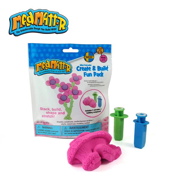 《 瑞典 Mad Mattr 》瘋狂博士MM沙 - 立體創意入門包 (粉) / JOYBUS玩具百貨