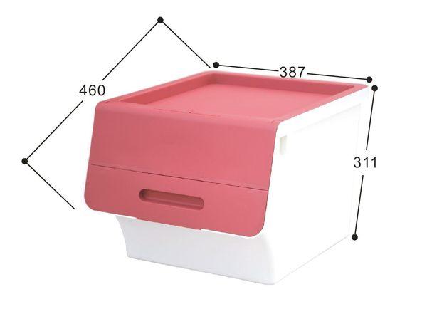 【好市吉居家生活】嚴選聯府KEYWAY~ HB-42 鄉村直取式整理箱(紅) 掀蓋 收納