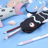 創意魚筆袋女韓國可愛個性帆布小清新鉛筆文具盒夢想巴士
