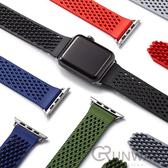 蘋果錶帶 apple watch錶帶無扣錶帶 38/40通用 42/44通用 運動多孔吸附網狀回環 透氣 矽膠
