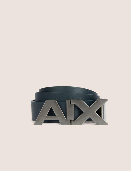 美國代購 AX ARMANI EXCHANGE 藍色 牛皮革皮帶 (W30~W40)