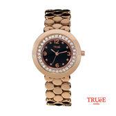 瑞士TRUeE 瑞時寶嘉 TC150149 時尚圈圈玫瑰金女腕錶 (33mm)