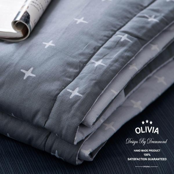 標準雙人【6x7尺】冬夏兩用被套【  DR820 阿波羅 灰 】 素色無印系列 100% 精梳純棉 OLIVIA