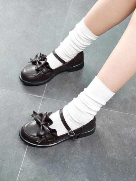愛之雅lolita洛麗塔蝴蝶結日系軟妹低跟圓頭少女學生單鞋JK制服鞋