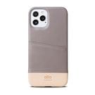 Alto iPhone 12 / 12 Pro 通用款 真皮手機殼背蓋 6.1吋 Metro - 礫石灰/本色【可加購客製雷雕】