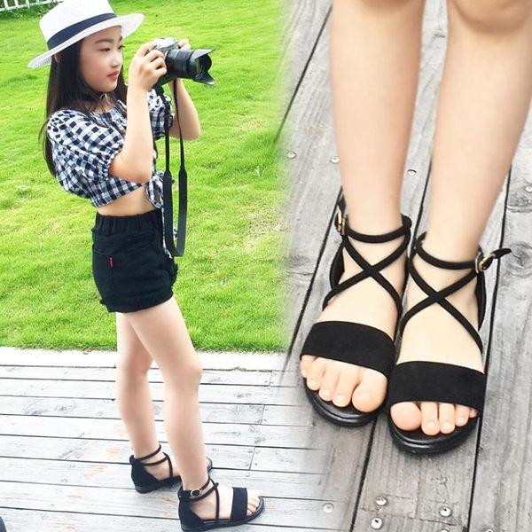 兒童女涼鞋新款兒童涼鞋公主鞋正韓女孩羅馬涼鞋【情人節禮物】