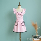 韓版圍裙 蕾絲蝴蝶結可愛公主圍裙 滌棉圍裙工作圍裙 草莓妞妞
