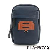 PLAYBOY- 腰掛包 拚色城市系列-學院藍