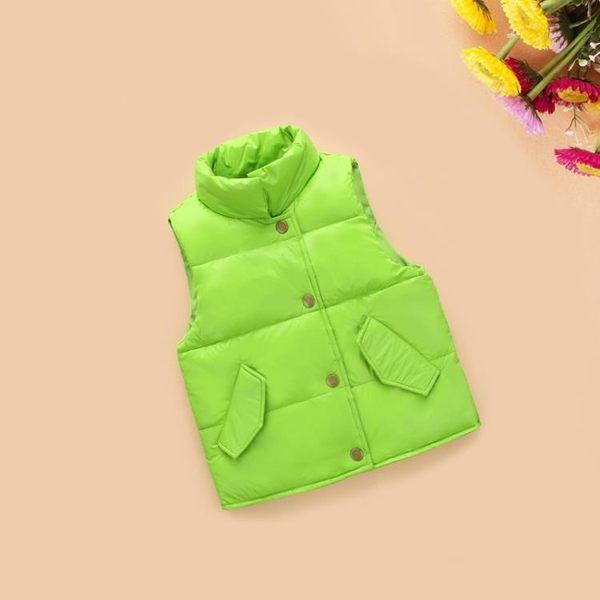 羽絨背心 反季童裝兒童羽絨服馬甲秋冬男女童寶寶背心立領韓版加厚保暖外套寶貝計畫