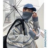 新春狂歡 子俊冬季韓版個性可翻高領毛衣男士青少年學生百搭保暖外套針織衫