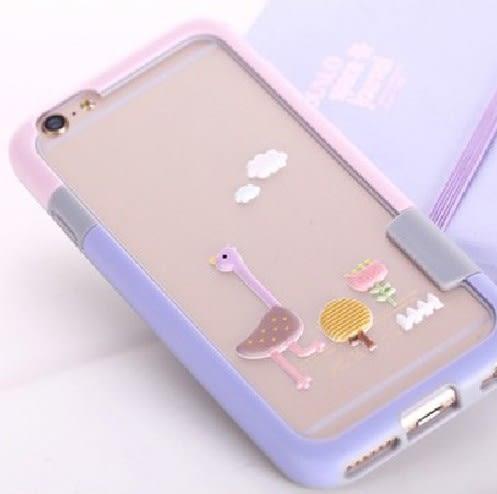 掛繩邊框 糖果色邊框 壓克力 矽膠殼 掛繩 iphone6 plus i6s 手機殼 保護殼