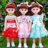 會說話的智慧對話芭芘洋娃娃女孩玩具仿真小學生單個公主套裝布  one shoes YXS