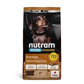 寵物家族-[輸入NT99享9折]紐頓Nutram-T27無穀迷你犬火雞5.4KG