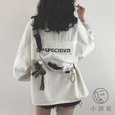 帆布側背腰包包包工裝胸包女韓版包包【小酒窩服飾】【小酒窩服飾】