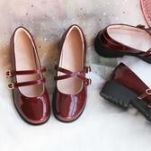 瑪麗珍鞋 復古中粗跟瑪麗珍鞋女新款學院風小皮鞋大頭娃娃鞋單鞋仙女氣 瑪麗蘇