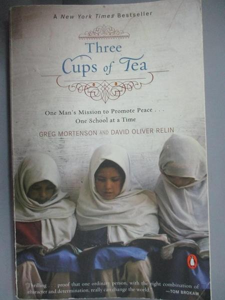 【書寶二手書T1/原文小說_JIX】Three Cups of Tea_Mortenson