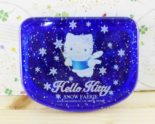【震撼精品百貨】Hello Kitty 凱蒂貓-KITTY鏡梳組-北海道圖案-藍色