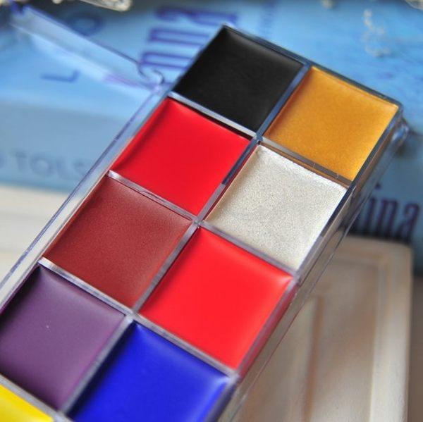 12色油彩 萬聖節戲劇面部彩繪膏  京劇臉人體彩繪顏料【藍星居家】
