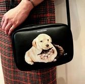 ■專櫃55折■Balenciaga  全新真品 489812 狗狗貓咪 小牛皮 S 相機斜背包