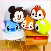 《現貨》迪士尼 米奇 史迪奇 大眼怪 奇奇 正版 球型 暖手抱枕 娃娃 靠枕 禮物 B16221
