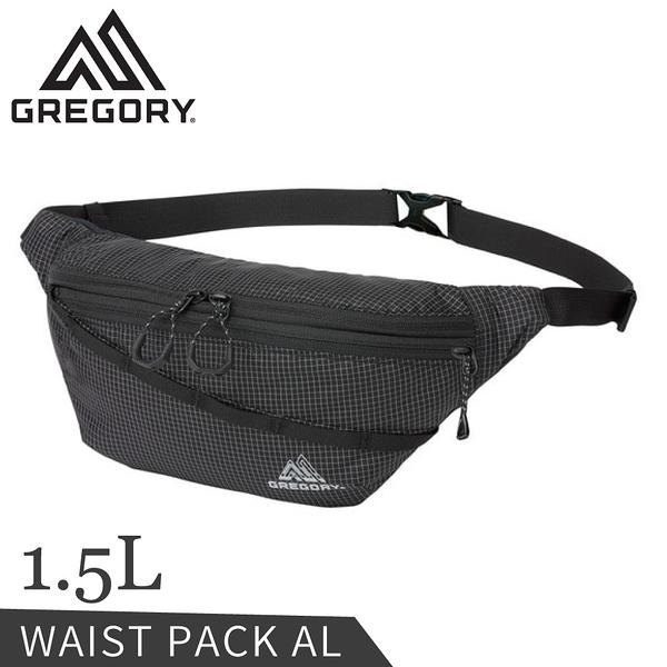 【GREGORY 美國 1.5L AL輕量腰包《黑》】138246/斜背包/小包/側背包休閒腰包