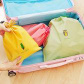 ✭慢思行✭【L170】卡通圖案束口收納袋 L 旅行 出差 整理 分類 打包 抽繩 行李 防塵 便攜 防髒