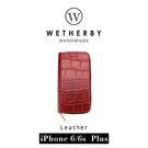 【G2 STORE】WETHERBY-PRIMECROCO-iPhone6/6sPlus-5.5吋手工製作鱷魚紋真皮保護套/皮包-紅色