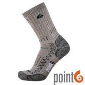 【POINT 6 美國】Hiking Tech Heavy 加厚 健行排汗羊毛襪『褐』22611534 露營 休閒 保暖襪 羊毛