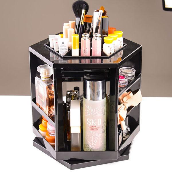 《chunbaiyi》炫彩韓版360度旋轉化妝品收納架 多功能收納盒(1入) 收納架 文具收納  置物架