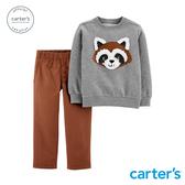 【美國 carter s】浣熊娃娃2件組套裝(2T-5T)-台灣總代理