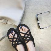 情侶新款百搭韓版學生軟妹涼鞋女夏羅馬綁帶平底越南沙灘簡約 〖米娜小鋪〗