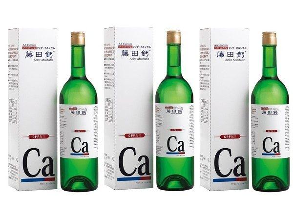 AA鈣杏懋 藤田鈣液劑 750ml  一罐 紐力活的另一種好選擇 母親節