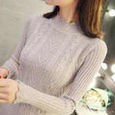 針織衫 半高領加厚女套頭內搭秋冬長袖毛衣