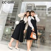 中大尺碼 黑色吊帶背心裙長洋裝~共兩款 - 適XL~4L《 67075L 》CC-GIRL