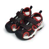 《FILA》兒童 MD護趾涼鞋 黑色 7-S456T-022