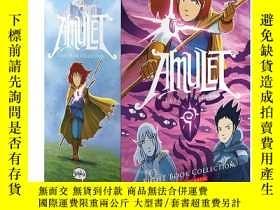二手書博民逛書店護身符1-8套裝罕見全綵漫畫繪本英文原版漫畫 Amulet #1