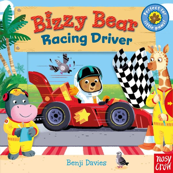 【幼兒操作拉拉書】BIZZY BEAR  RACING DRIVER  /硬頁操作書