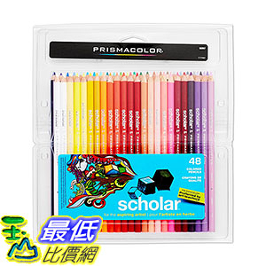 [106美國直購] Prismacolor 92807 48色 彩色鉛筆 Scholar Colored Pencils, 48-Count